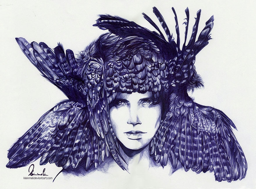 The amazing ballpoint pen drawings 17