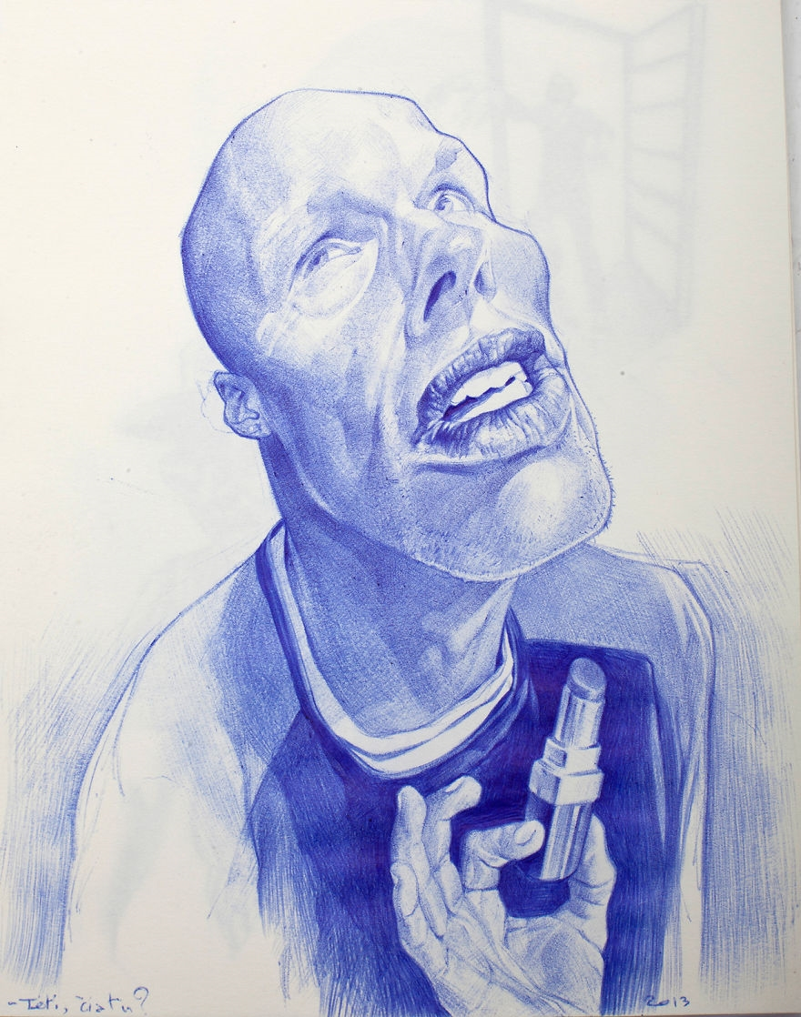 The amazing ballpoint pen drawings 31