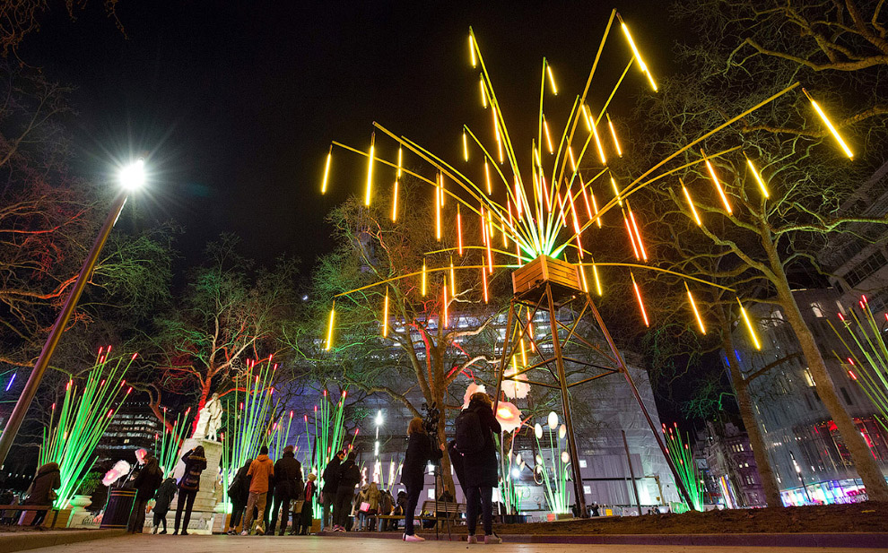 The festival of light in London 25