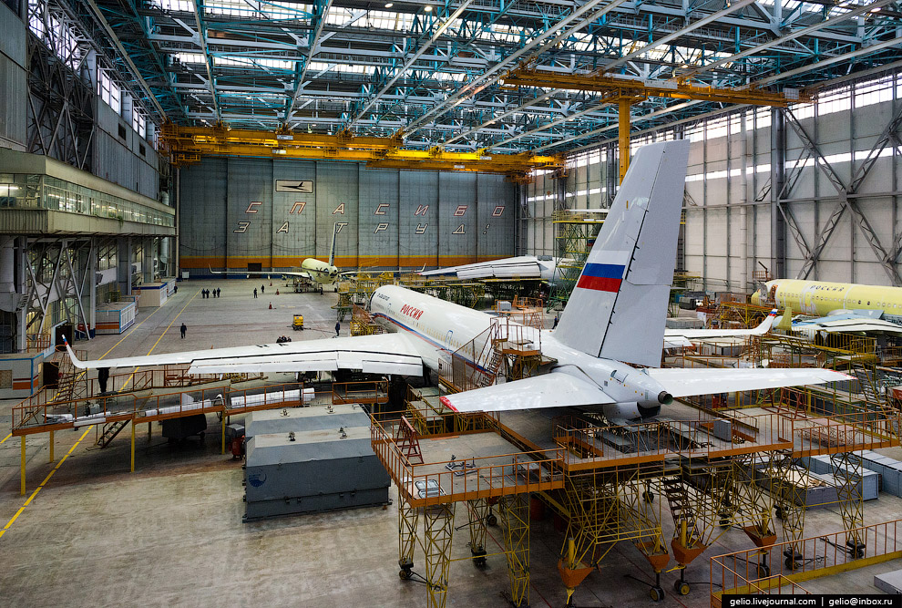 The production of Il-76 and Tu-204 at the plant Aviastar-SP 18