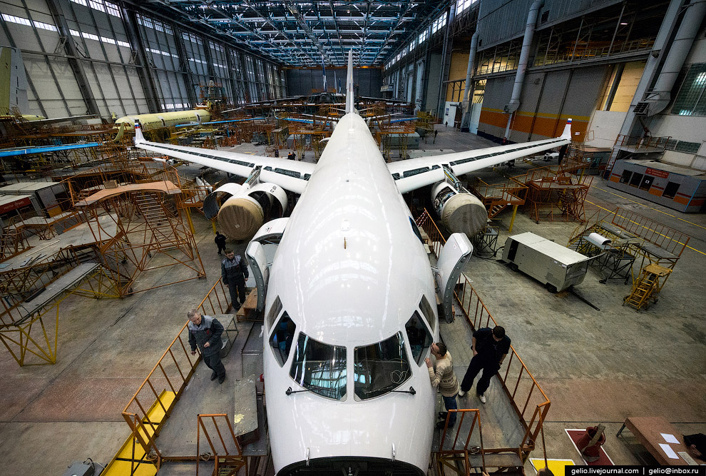 The production of Il-76 and Tu-204 at the plant Aviastar-SP 20