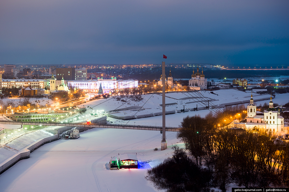 Winter Tyumen with height 04