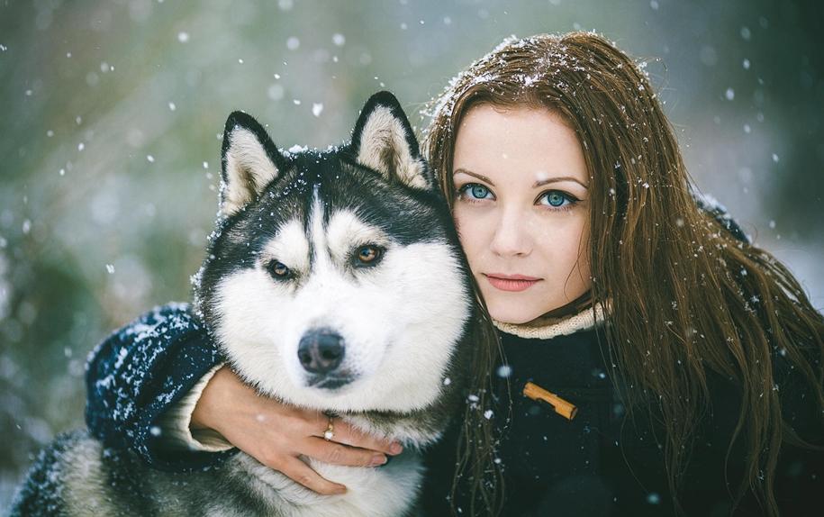 25 потрясающих снежные портретов