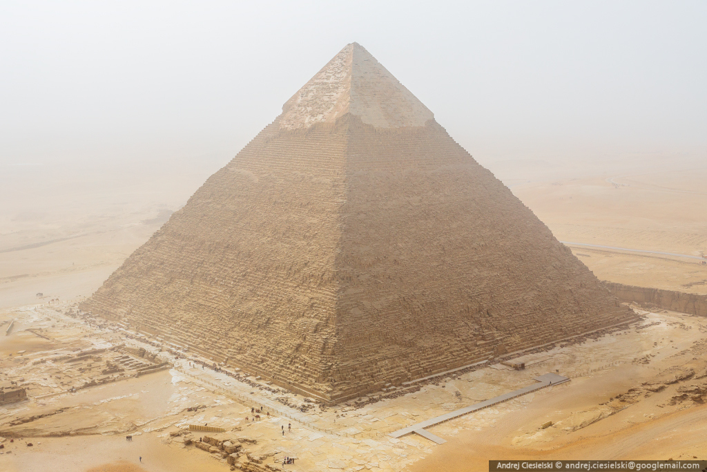 18-year-old Andrew Ciesielski climbed to the top of the pyramid at Giza 07