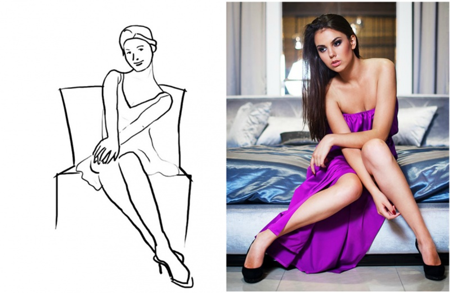 20 successful female poses for the photoshoot 20