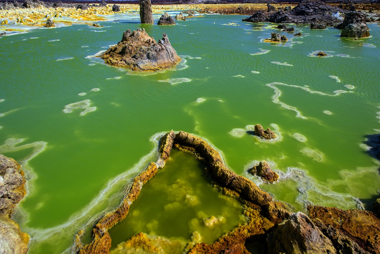 Alien planet. Dallol volcano 06