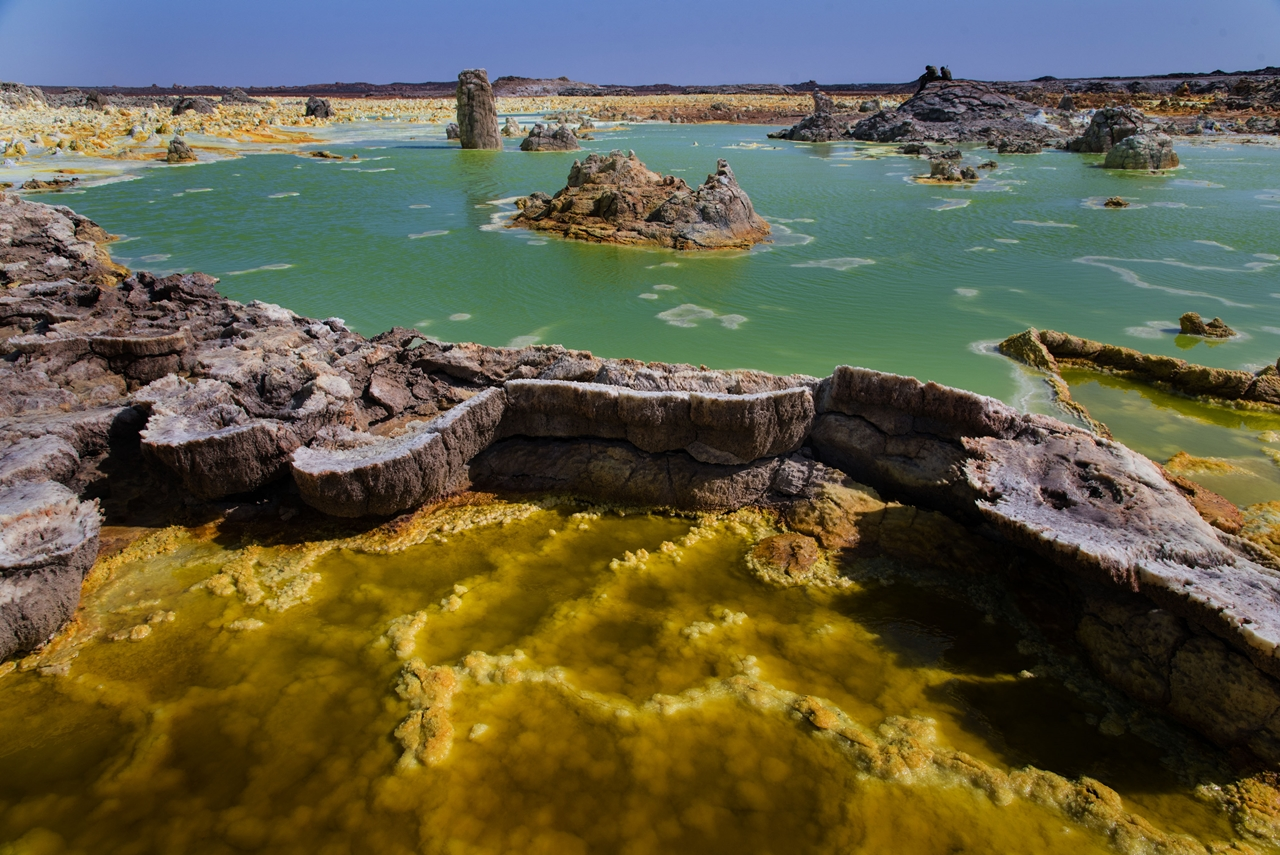 Alien planet. Dallol volcano 10