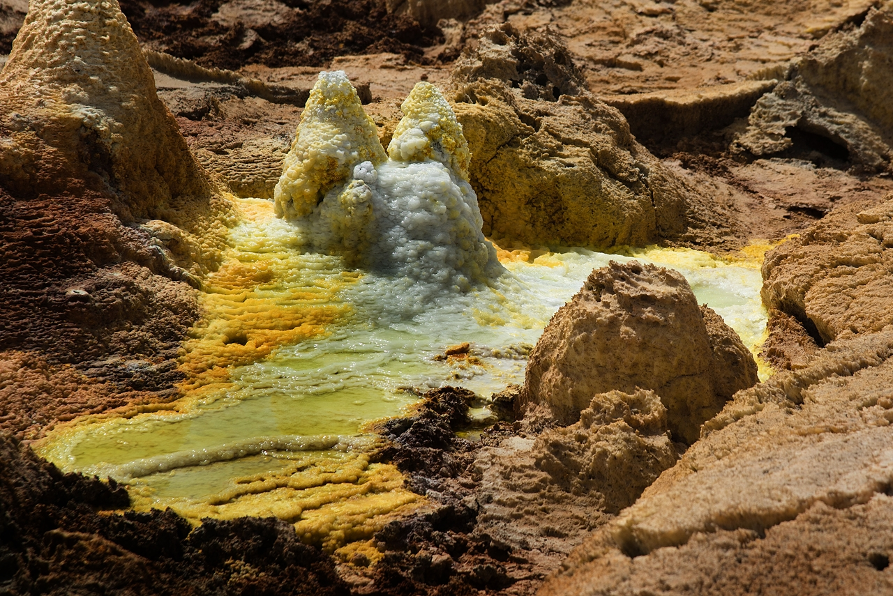 Alien planet. Dallol volcano 11