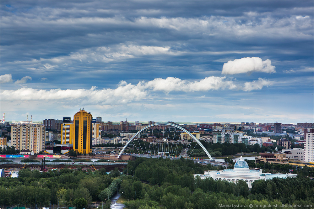 Evening Astana from the height 02