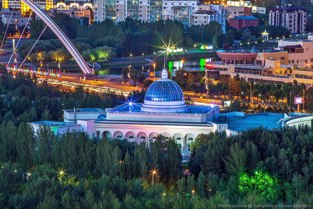 Evening Astana from the height 03