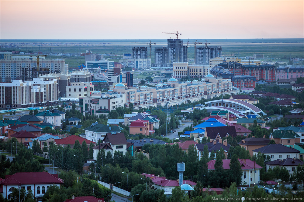 Evening Astana from the height 04