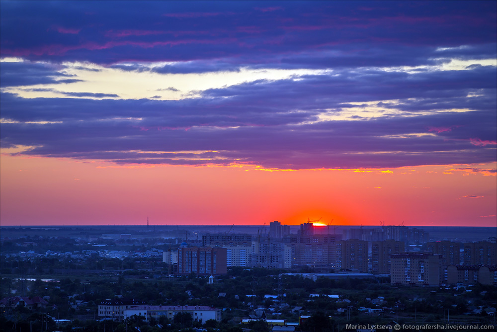 Evening Astana from the height 08