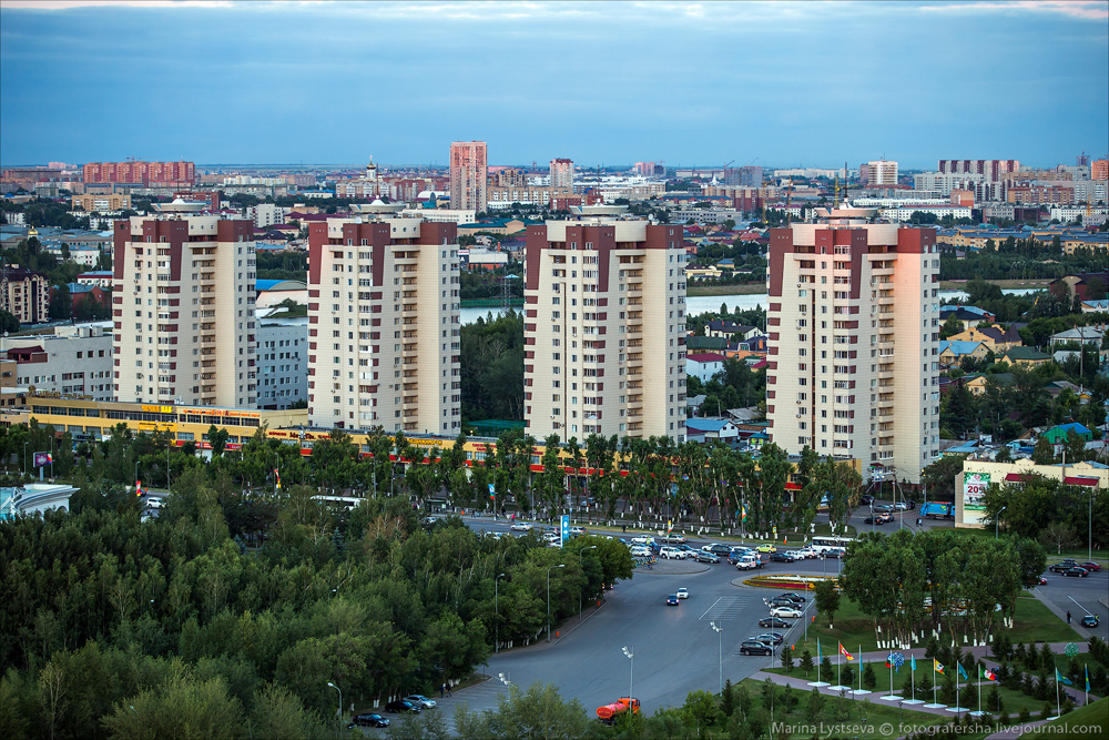 Evening Astana from the height 13