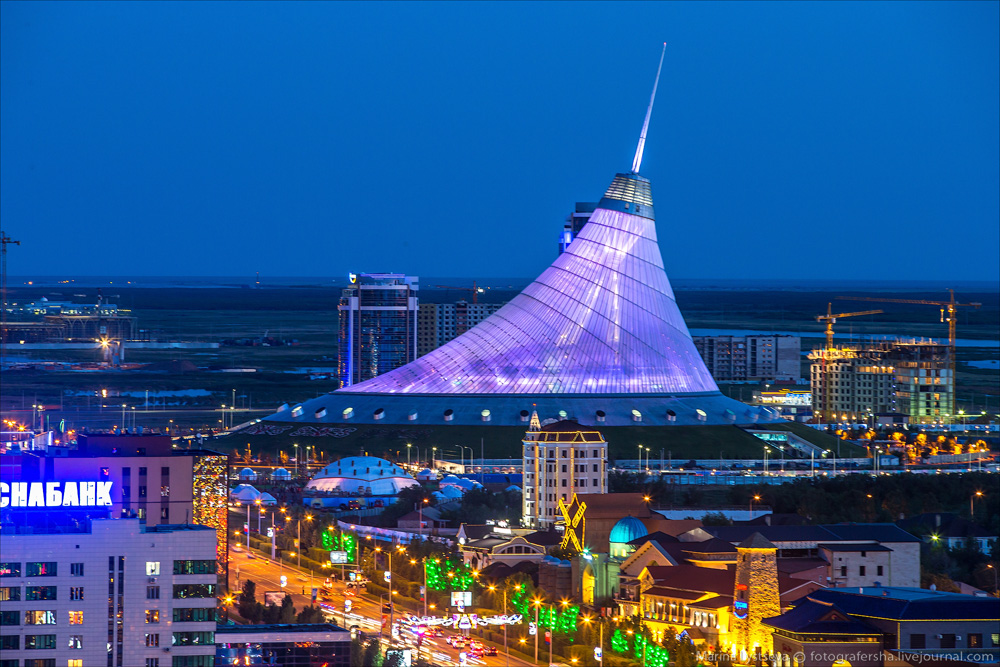Evening Astana from the height 15