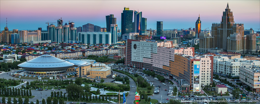 Evening Astana from the height 18