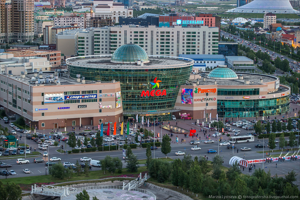 Evening Astana from the height 22