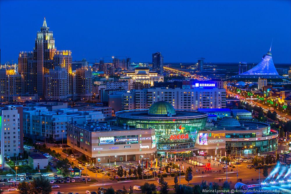 Evening Astana from the height 23