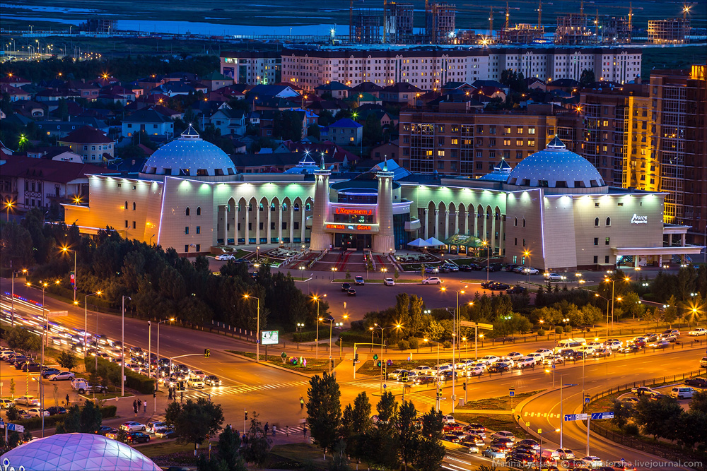 Evening Astana from the height 25