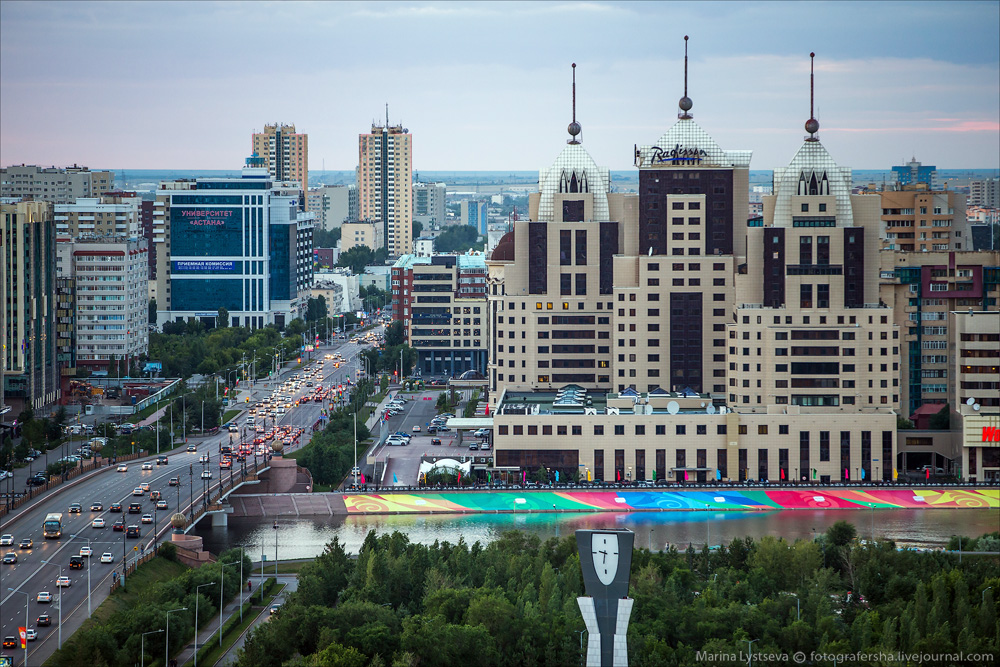 Evening Astana from the height 26