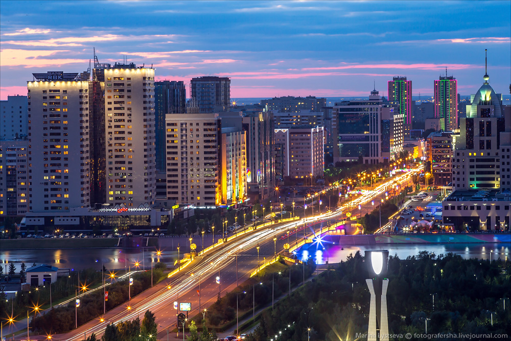 Evening Astana from the height 27