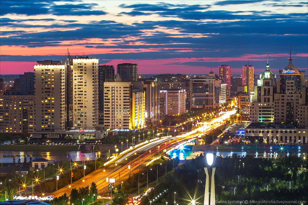 Evening Astana from the height 28