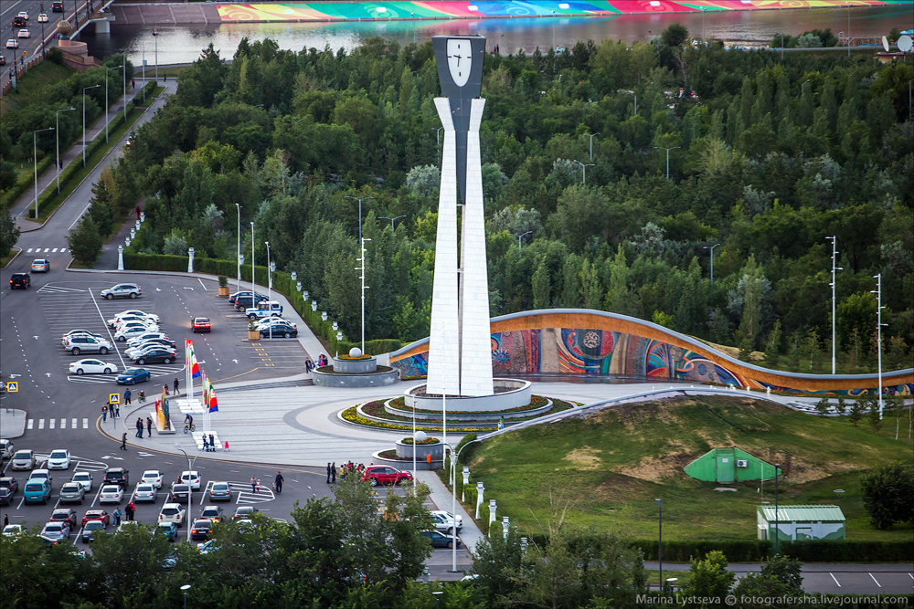 Evening Astana from the height 29