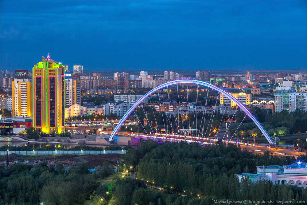 Evening Astana from the height 31