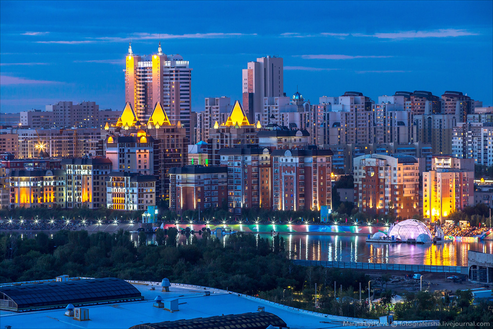 Evening Astana from the height 32