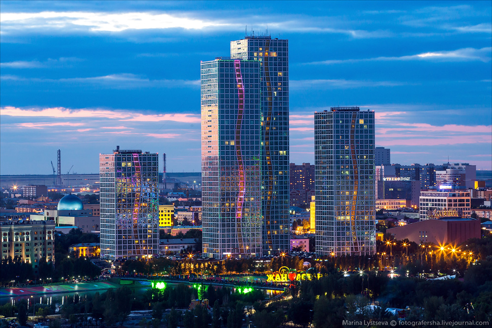 Evening Astana from the height 38