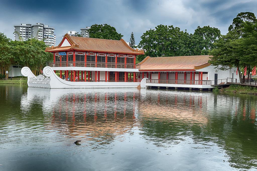 Islands on the lake Jurong 10