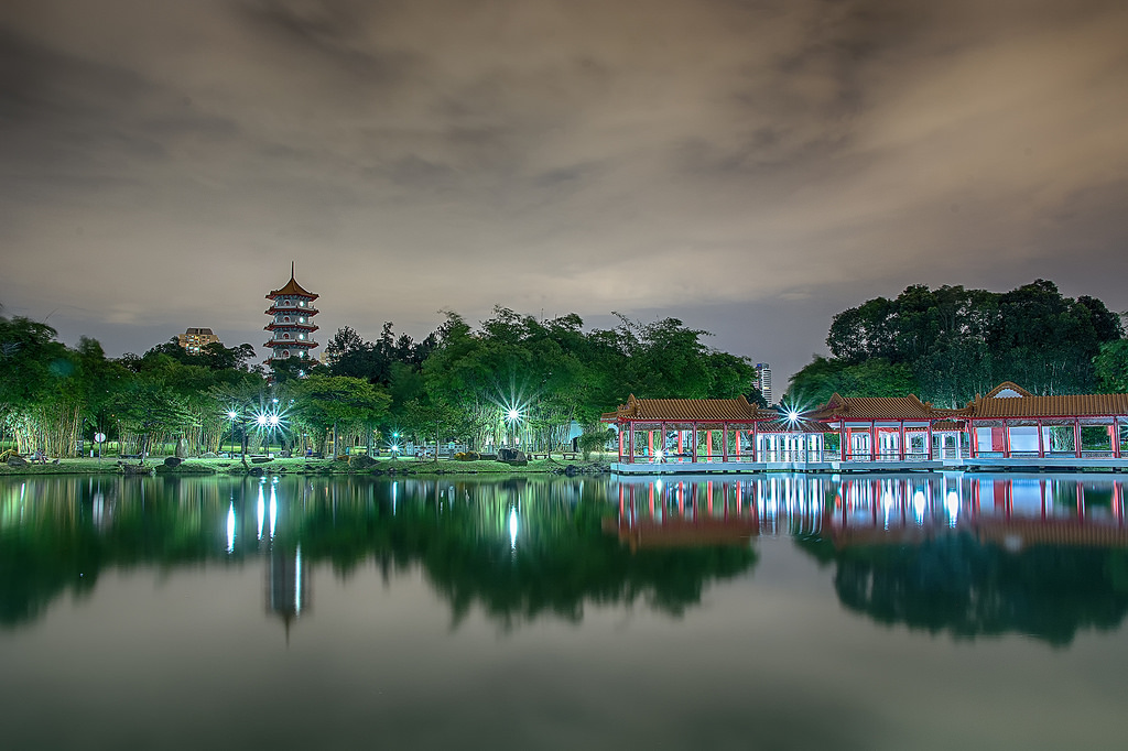 Islands on the lake Jurong 20