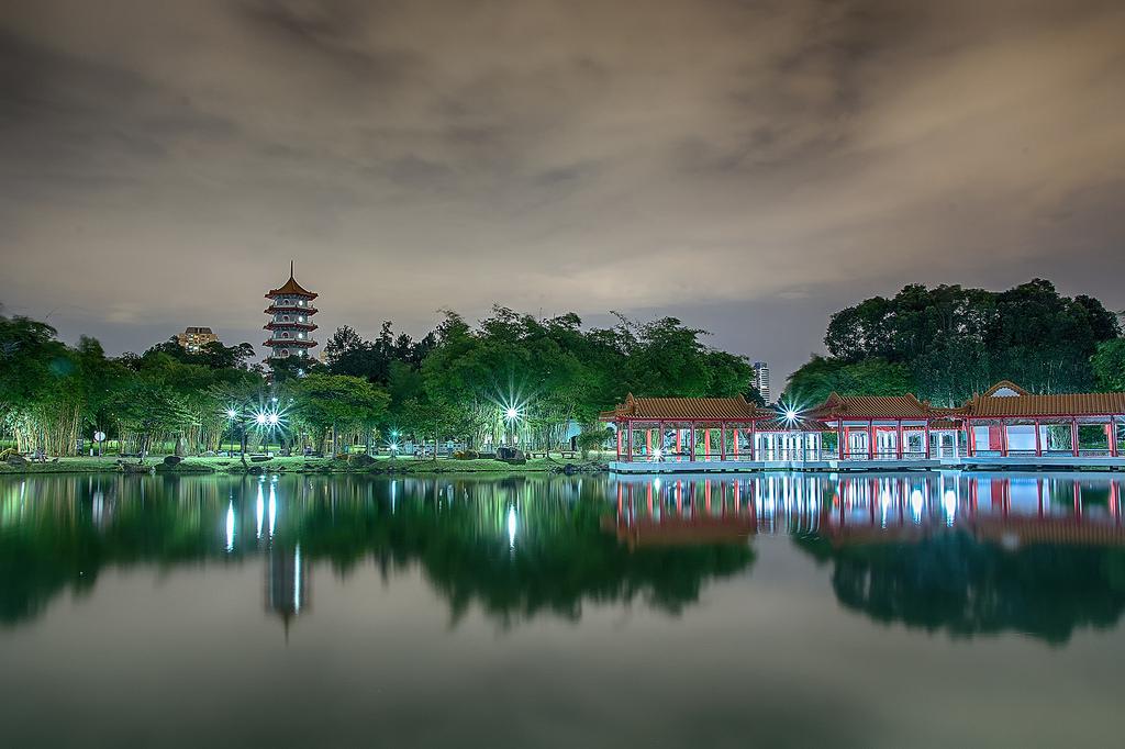 Islands on the lake Jurong 20