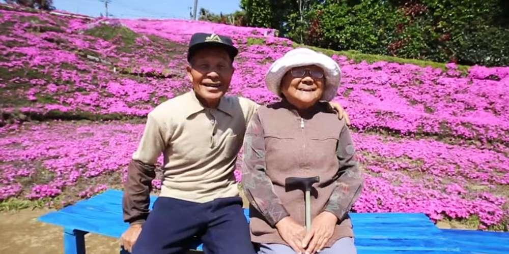 Любящий муж за два года высадил тысячи цветов для ослепшей жены