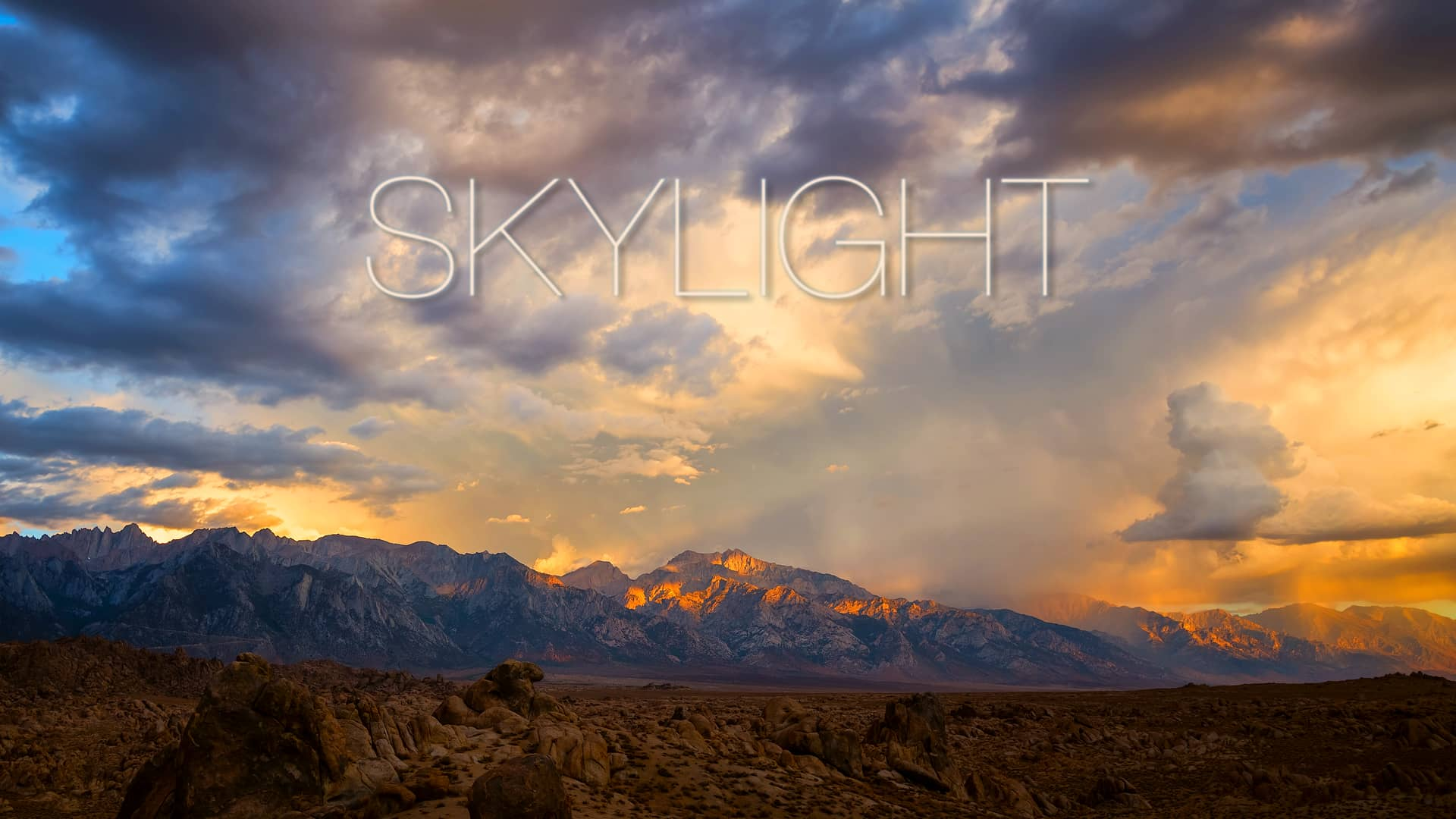 Timelapse video heavenly light