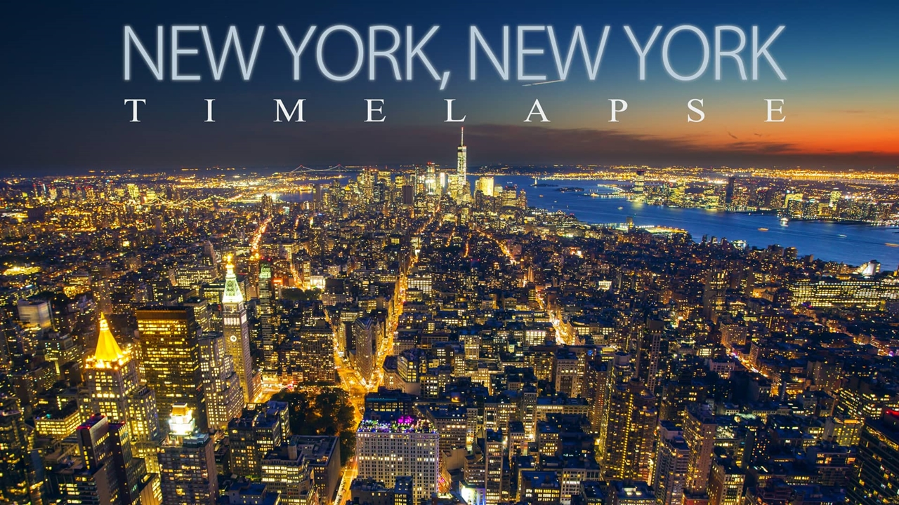 Timelapse video. New York, New York