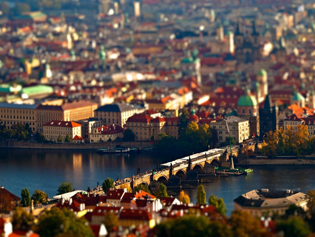 Tiny cities and with the effect of tilt-shift 03