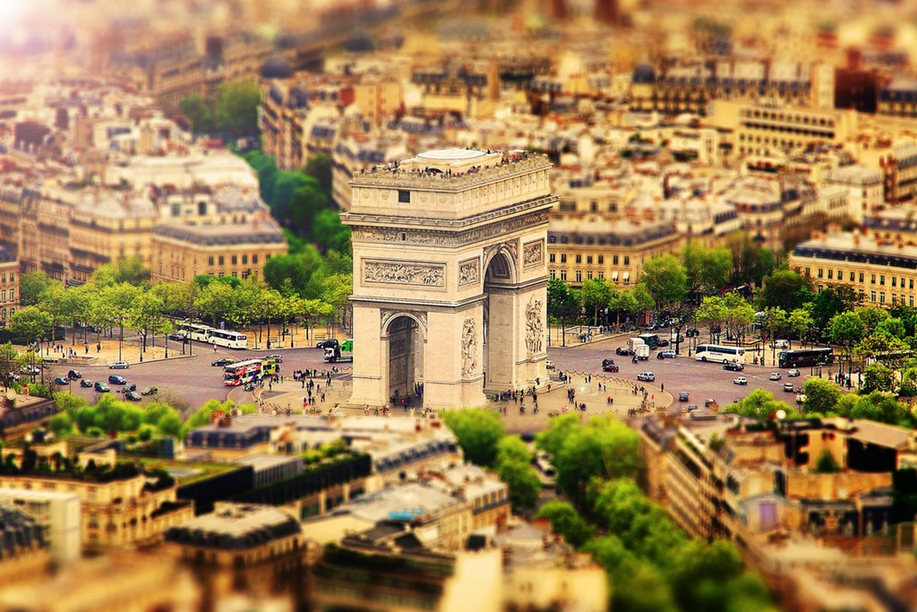 Tiny cities and with the effect of tilt-shift 05