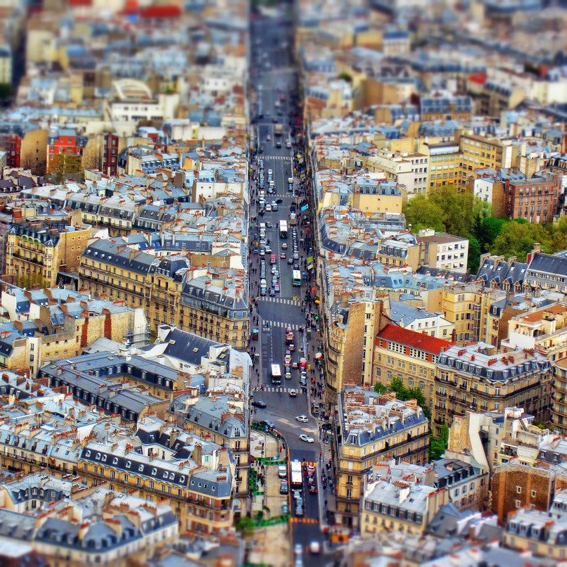 Tiny cities and with the effect of tilt-shift 06