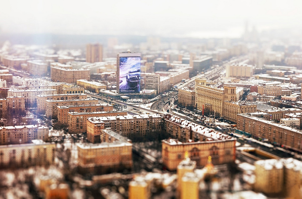 Tiny cities and with the effect of tilt-shift 08