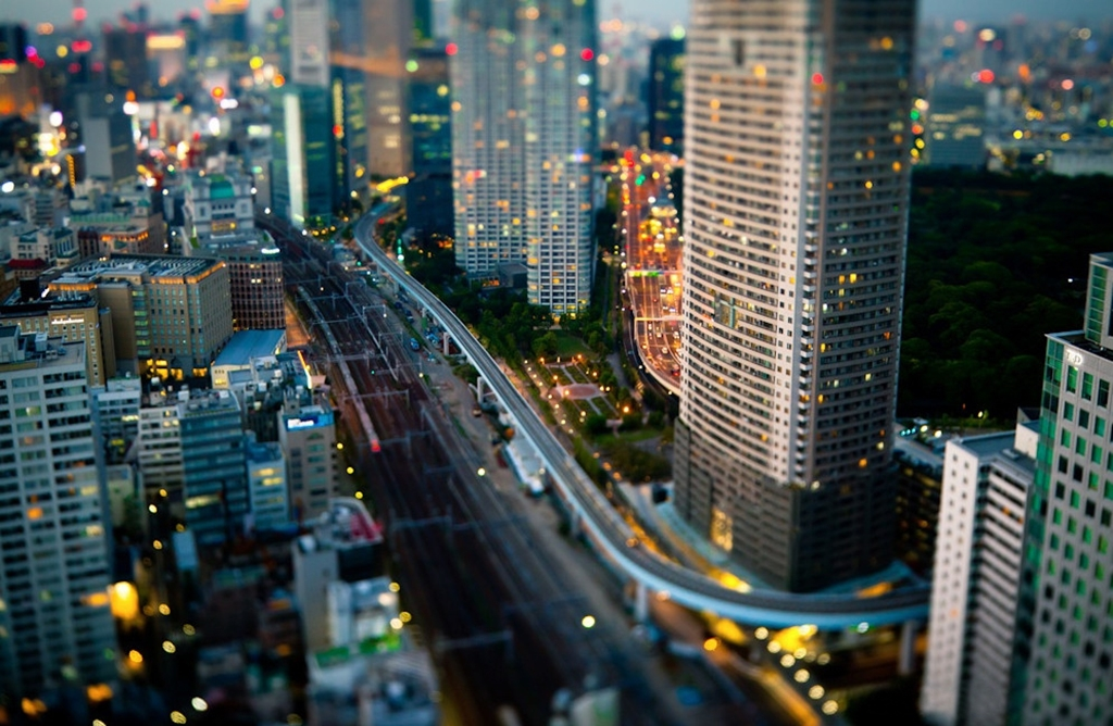 Tiny cities and with the effect of tilt-shift 10