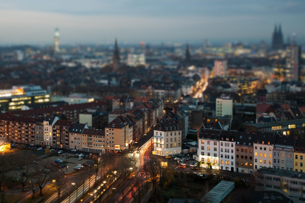Tiny cities and with the effect of tilt-shift 11