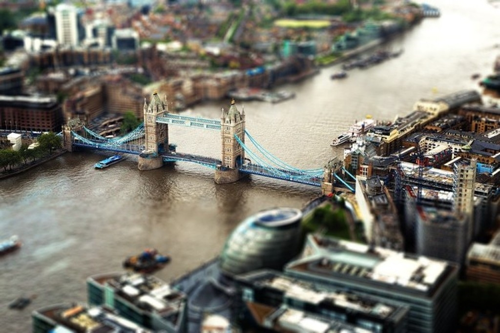 Tiny cities and with the effect of tilt-shift 12