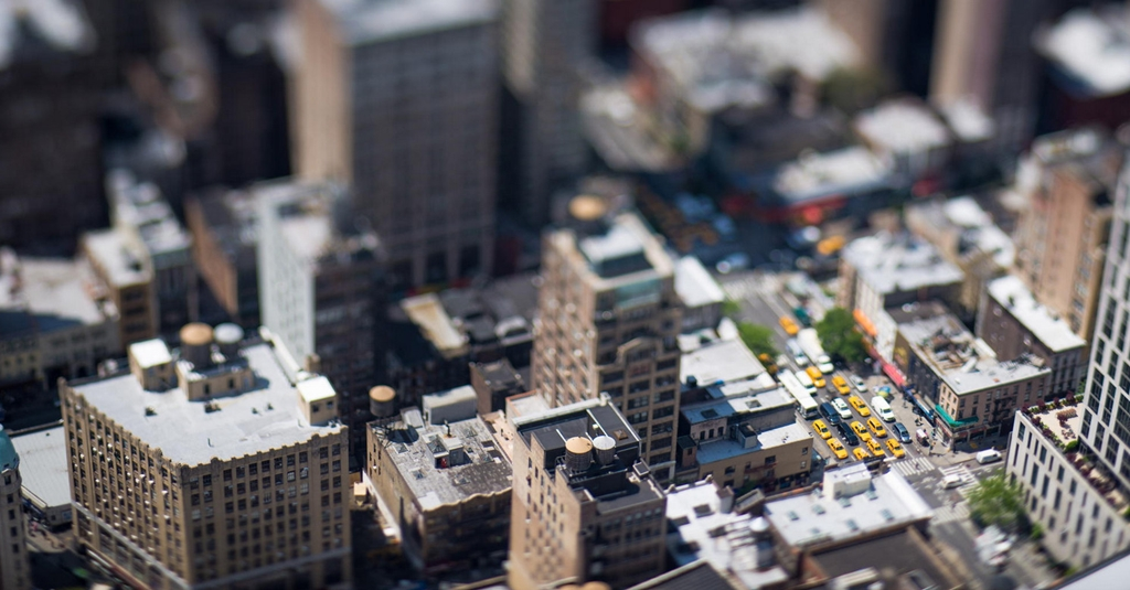 Tiny cities and with the effect of tilt-shift 15