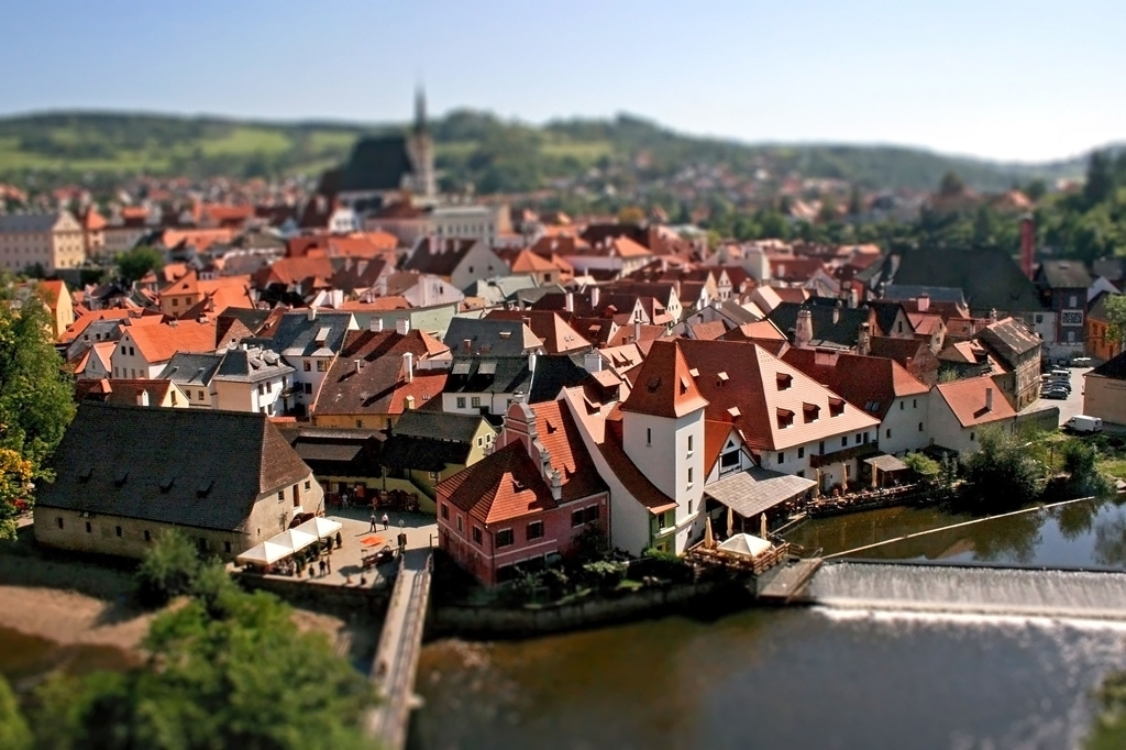 Tiny cities and with the effect of tilt-shift 20
