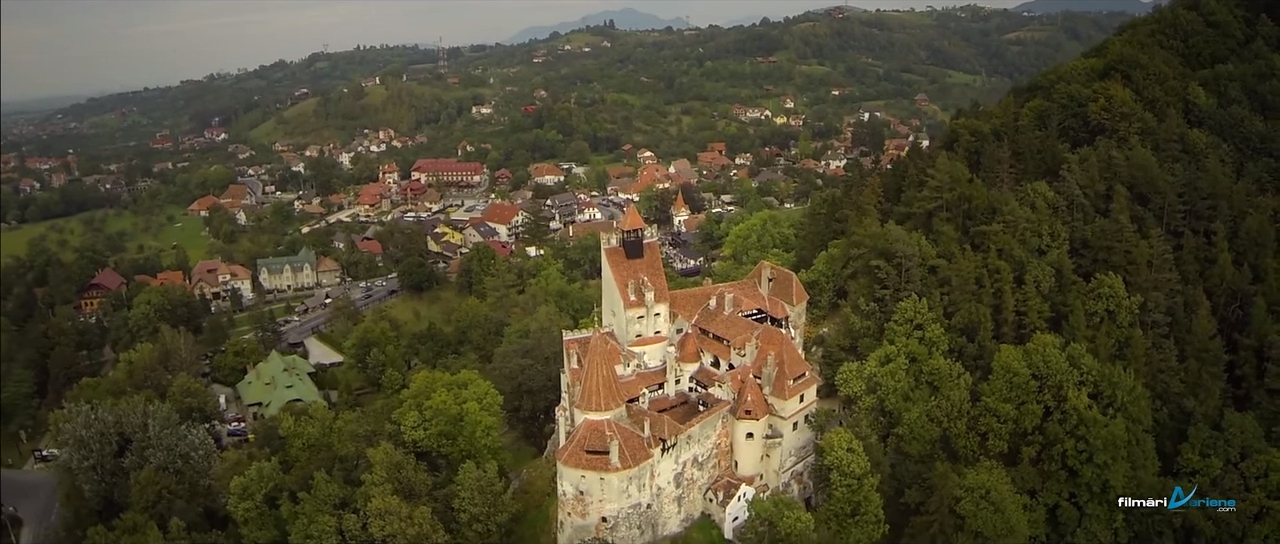 Bran Castle - Aerial Summer Video
