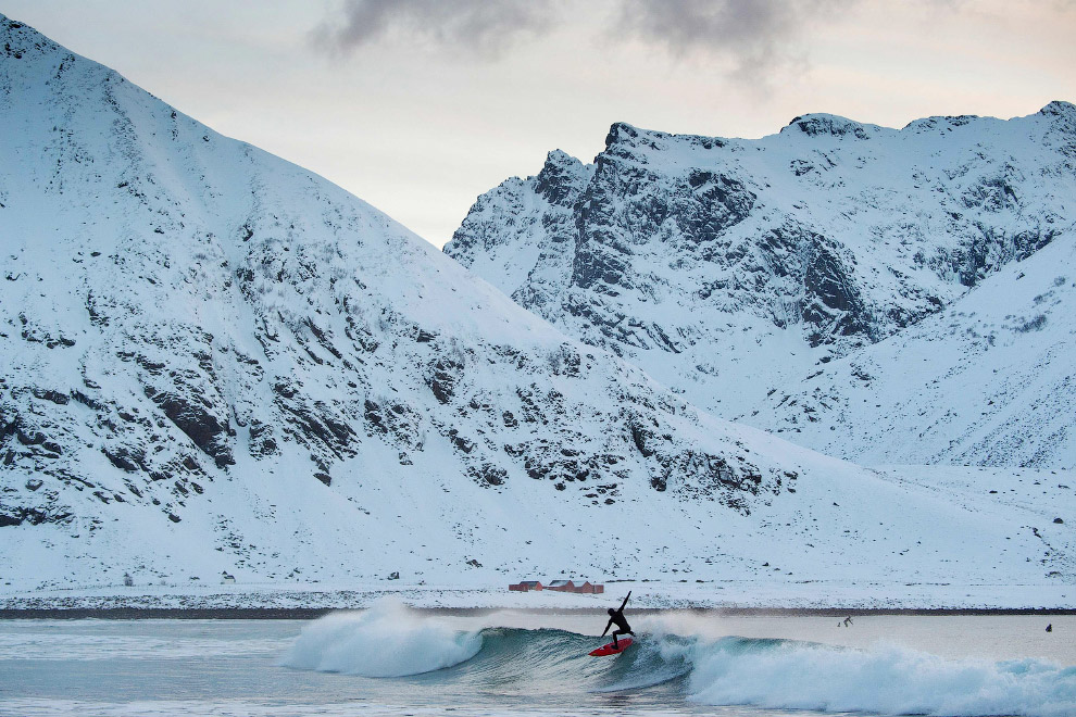 Extreme surfers in the Arctic 28
