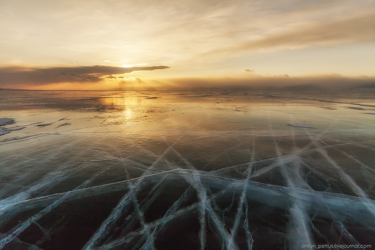 Glass sunset. Baikal 02