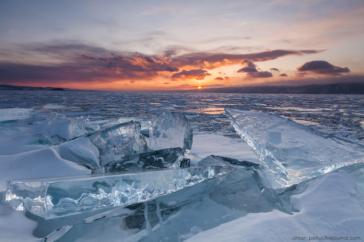 Glass sunset. Baikal 05