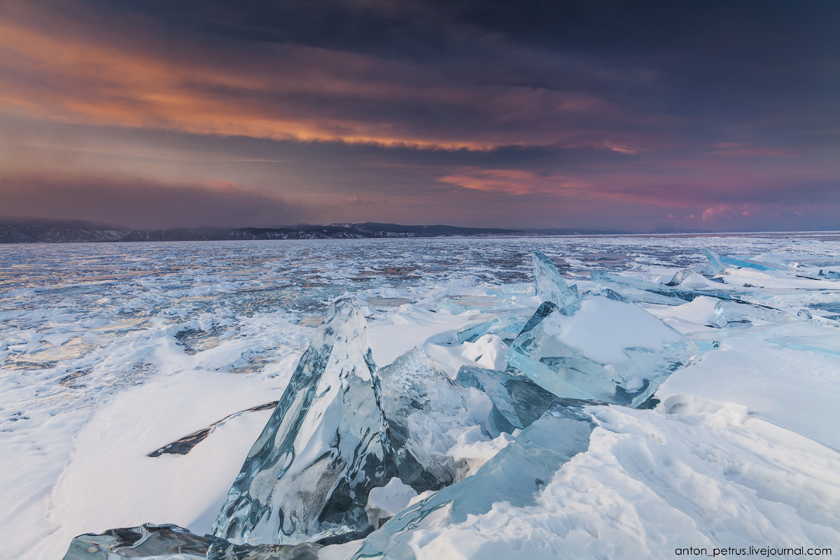 Glass sunset. Baikal 06