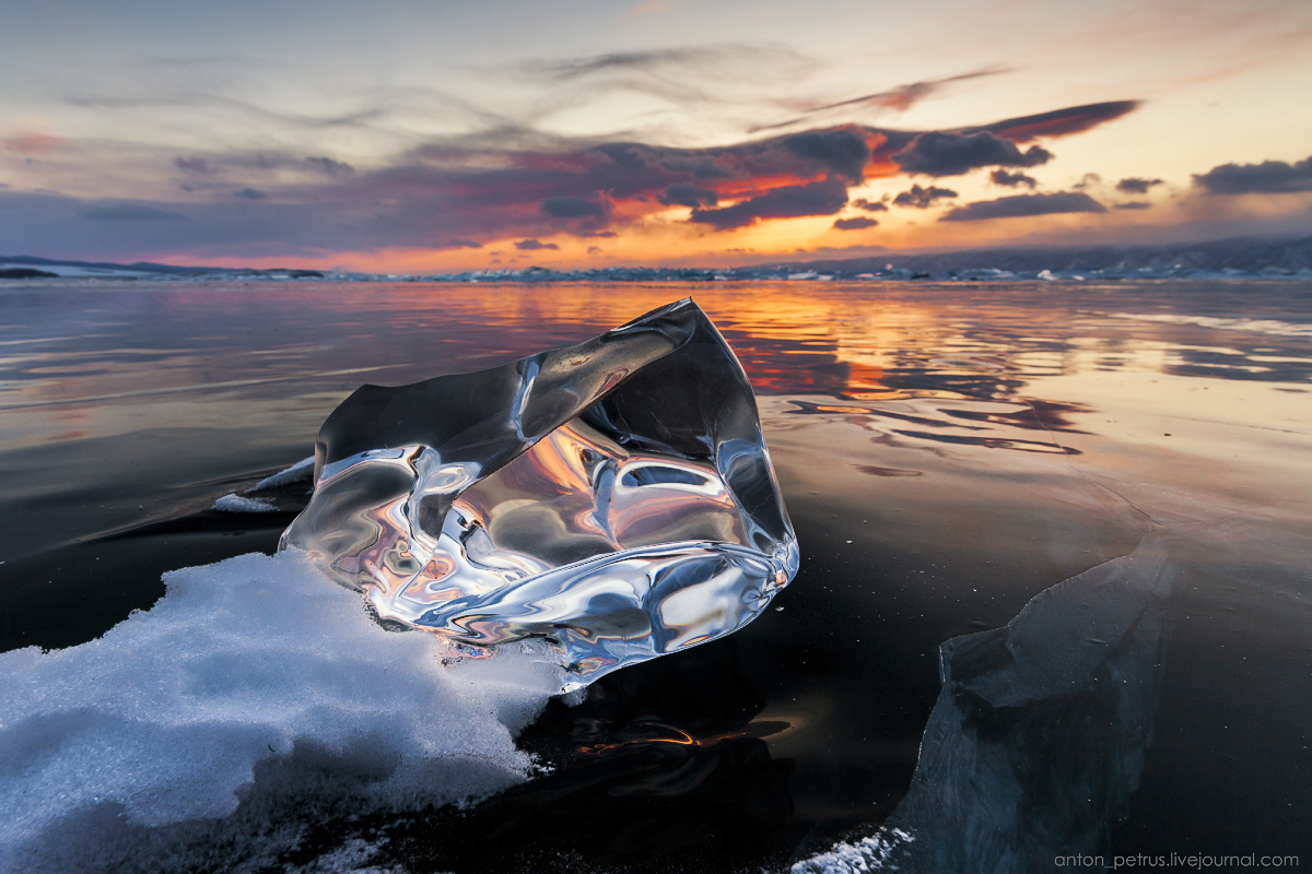 Glass sunset. Baikal 09